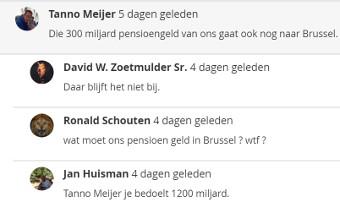 Gaat er Nederlands pensioengeld naar de EU?