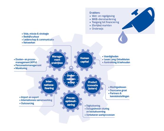 Afbeelding van model voor duurzame productiviteitsgroei