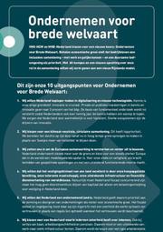 Ondernemen voor Brede Welvaart (samenvatting)