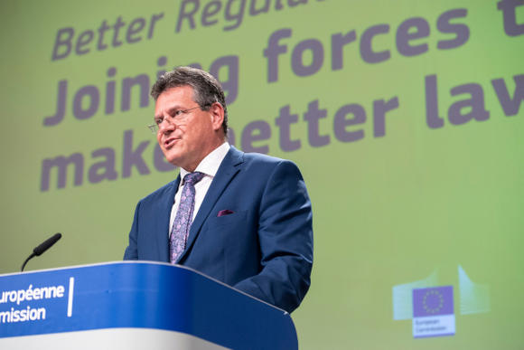 """Press conference by Maroš Šefčovič, Vice-President of the European Commission, on 'Better Regulation: Joining forces to make better laws'"""""""