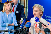 Press point Ursula von der Leyen