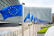European flags in front of the Berlaymont building