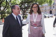 Aloysio Nunes, Minister of Foreign Affairs of Brazil, on the left and Cecilia Malmstrom, during the WTO 11th ministerial conference.