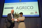 Agrico wint Ambassadeursprijs 2016