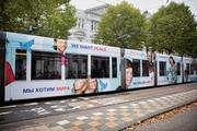 De Vredestram rijdt door Amsterdam