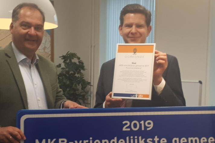 Sluis winnaar MKB-Vriendelijkste gemeente provincie Zeeland