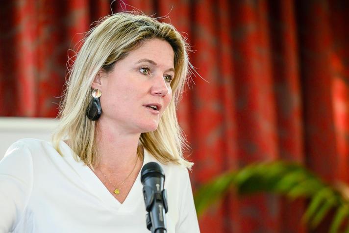 Annet Koster (KVNR): 'Ik hoop dat de scheepvaart dit volhoudt'