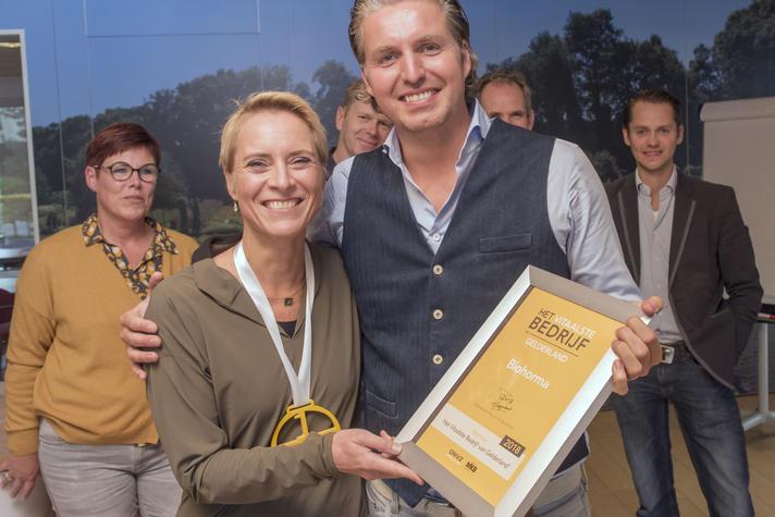 Biohorma is Het Vitaalste Bedrijf van Gelderland