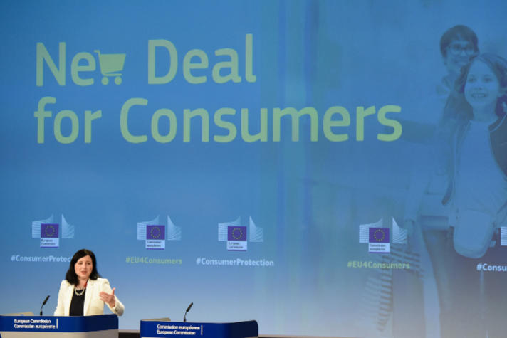 Press conference by Vĕra Jourová, Member of the EC, on the New Deal for Consumers