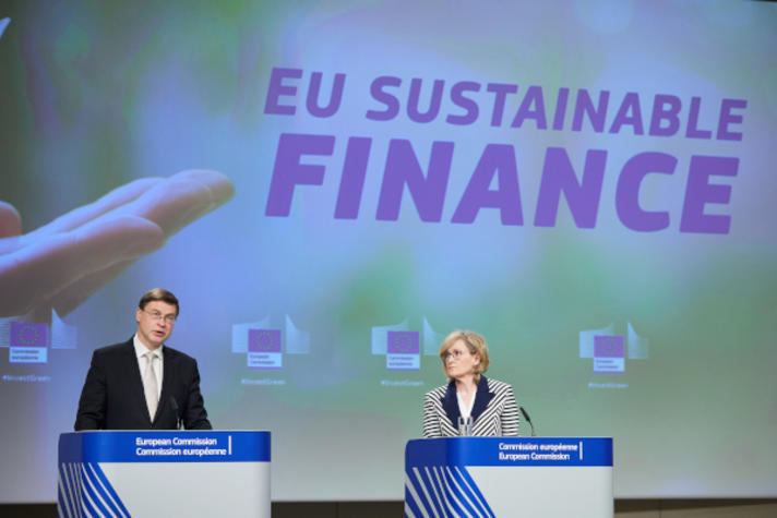Press conference by Valdis Dombrovskis, Executive Vice-President of the European Commission, and Mairead McGuinness, European Commissioner, on Sustainable Finance and EU Taxonomy