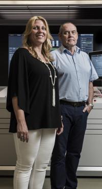 Wil en Sandra Pfeiffer, drukwerk Prinsjesdag